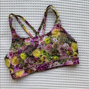 Lululemon Floral Sports Bra